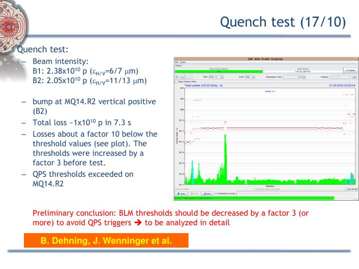 Quench test (17/10)