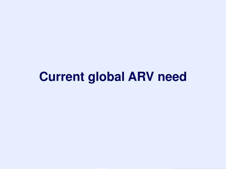 Current global ARV need