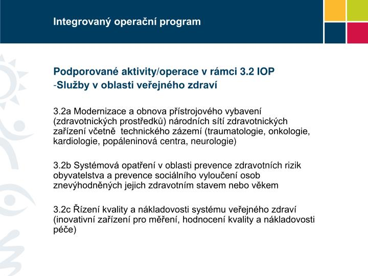Integrovan opera n program