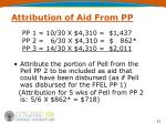 attribution of aid from pp