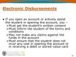 electronic disbursements1