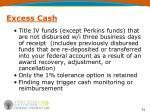 excess cash