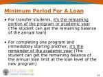 minimum period for a loan2