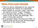 minor prior year charges1