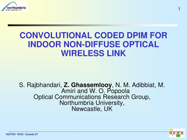 Convolutional coded dpim for indoor non diffuse optical wireless link