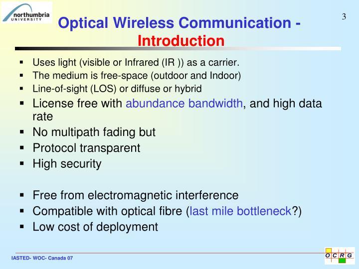 Optical wireless communication introduction