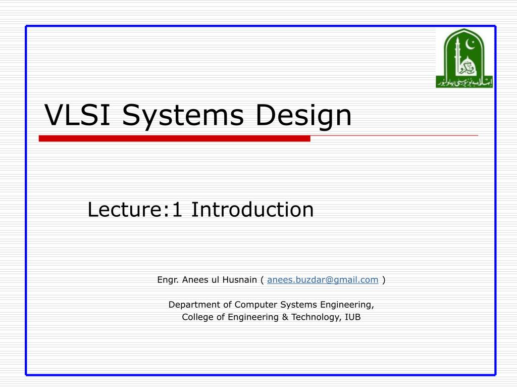 Ppt Vlsi Systems Design Powerpoint Presentation Free Download Id 5503315