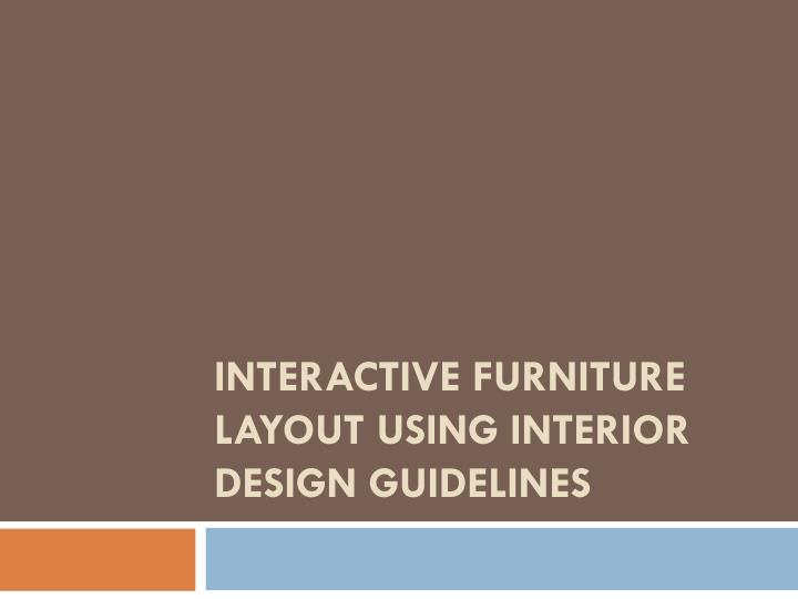 Ppt Interactive Furniture Layout, Interior Design Furniture Placement Guidelines