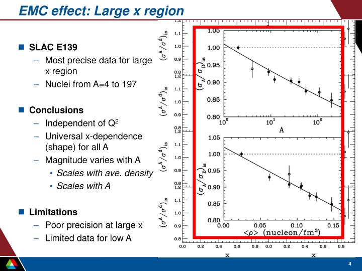 EMC effect: Large x region