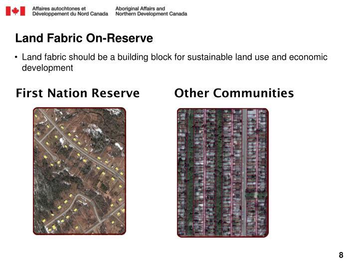 Land Fabric On-Reserve