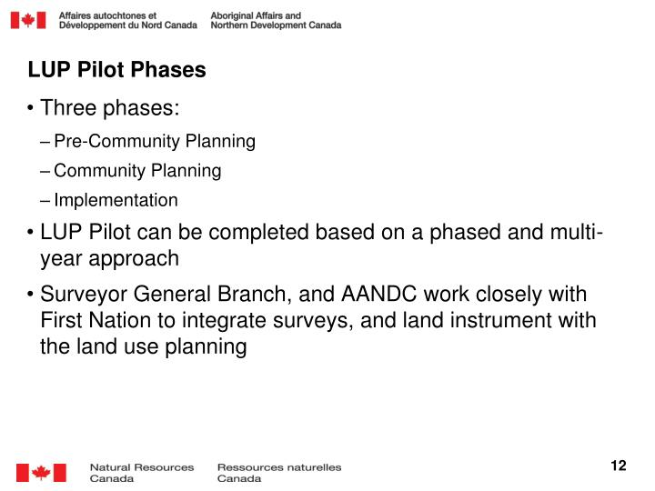LUP Pilot Phases
