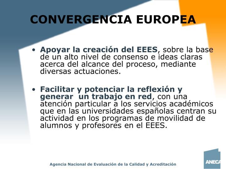 CONVERGENCIA EUROPEA