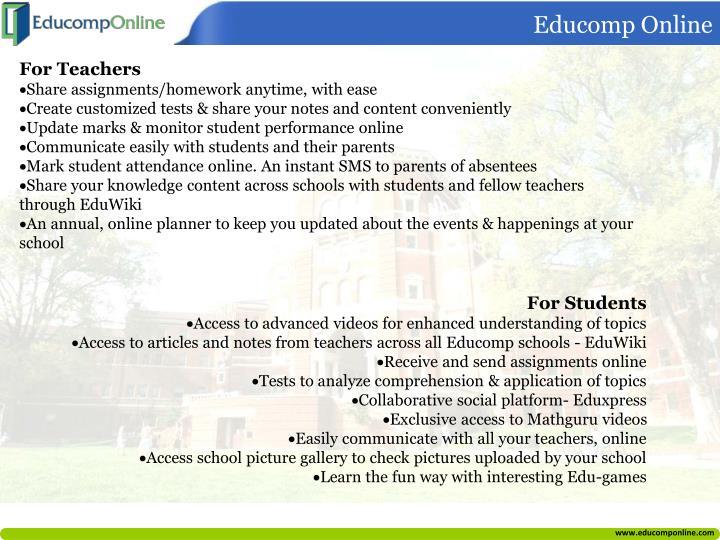 educomp online homework