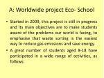a worldwide project eco school