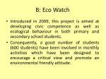 b eco watch