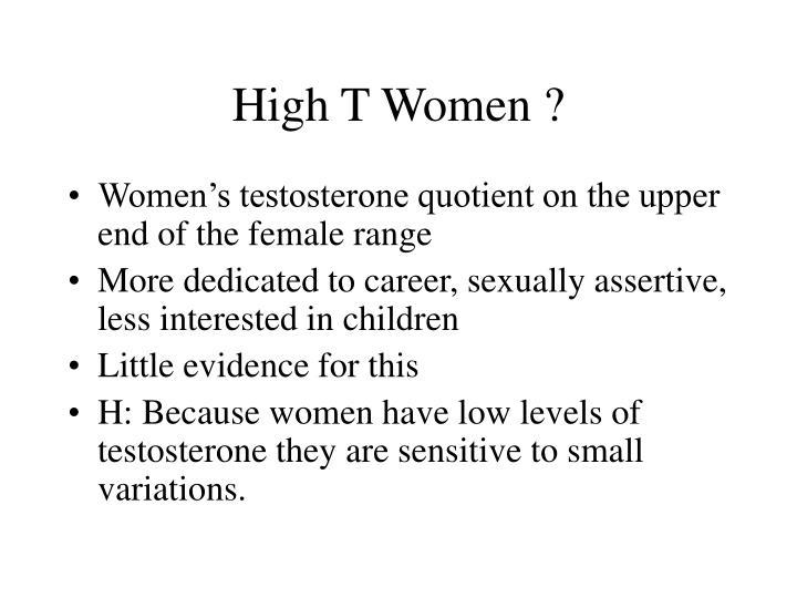 High T Women ?