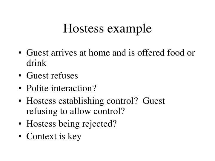 Hostess example