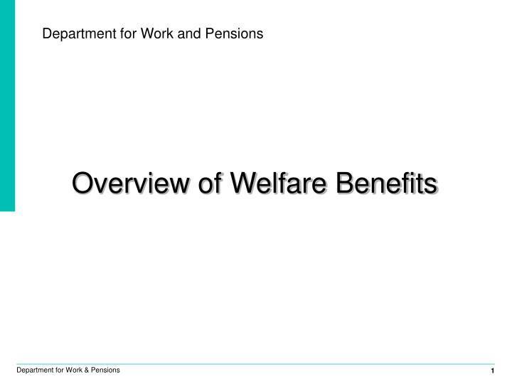 department for work and pensions n.