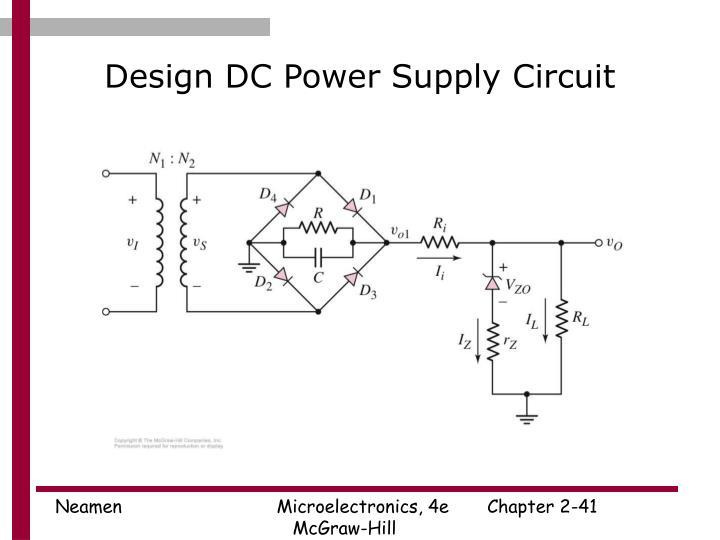 Design DC Power Supply Circuit