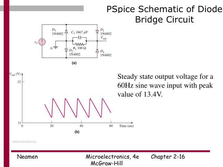 PSpice Schematic of Diode Bridge Circuit