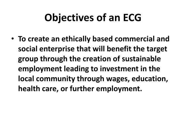 Objectives of an ECG