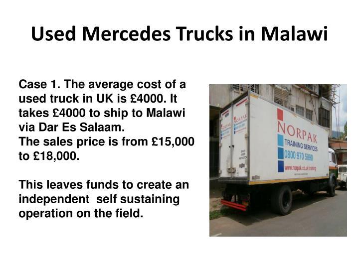 Used Mercedes Trucks in Malawi
