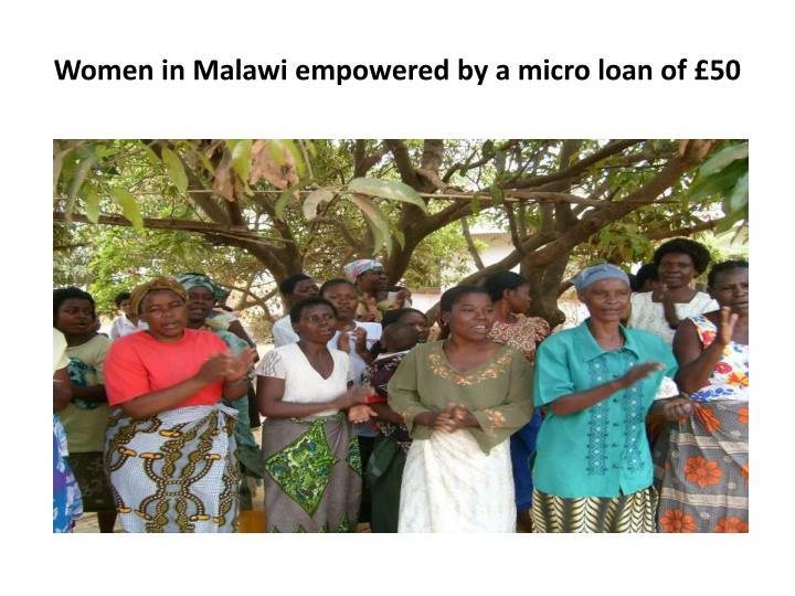 Women in Malawi empowered by a micro loan of £50