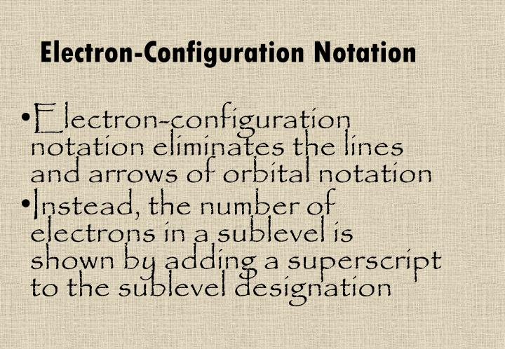 Electron-Configuration Notation