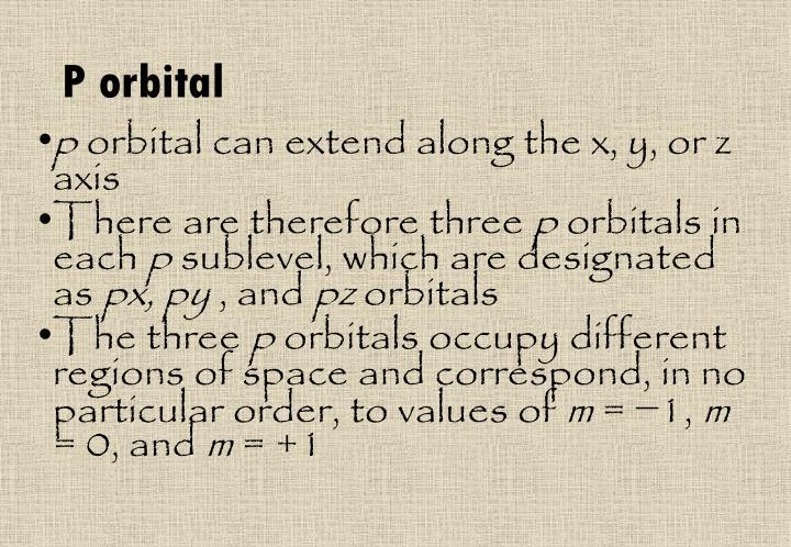 P orbital