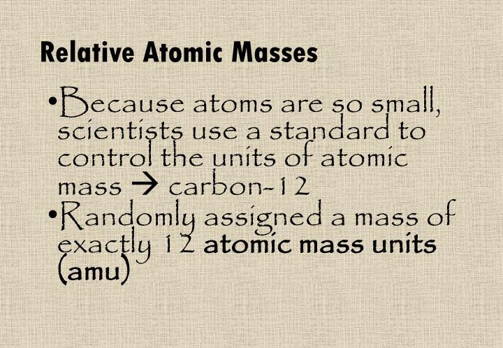 Relative Atomic Masses