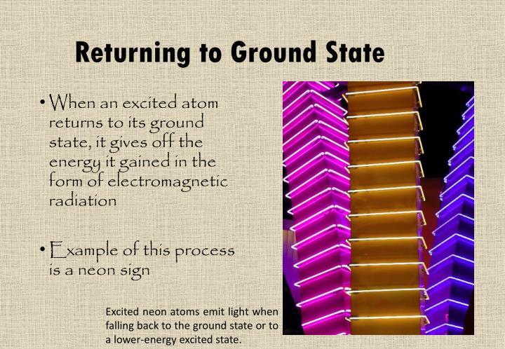 Returning to Ground State