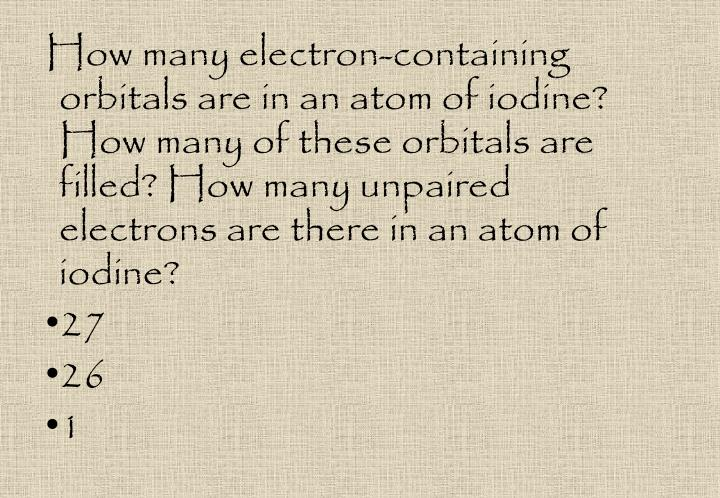 How many electron-containing