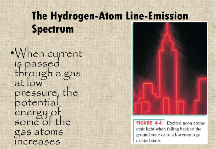 The Hydrogen-Atom Line-Emission Spectrum