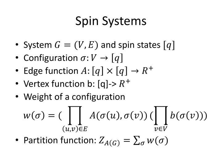 Spin systems