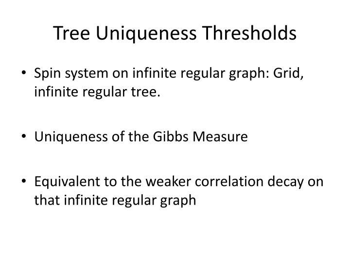 Tree Uniqueness Thresholds
