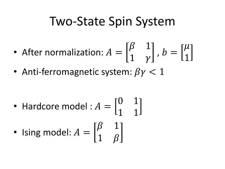 Two-State Spin System