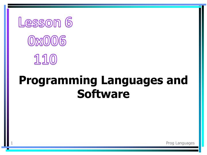 programming languages and software n.