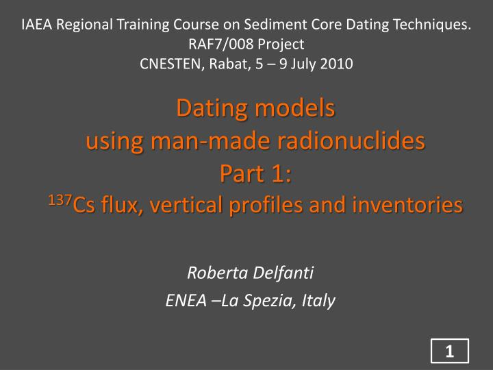 Dating models using man made radionuclides part 1 137 cs flux vertical profiles and inventories