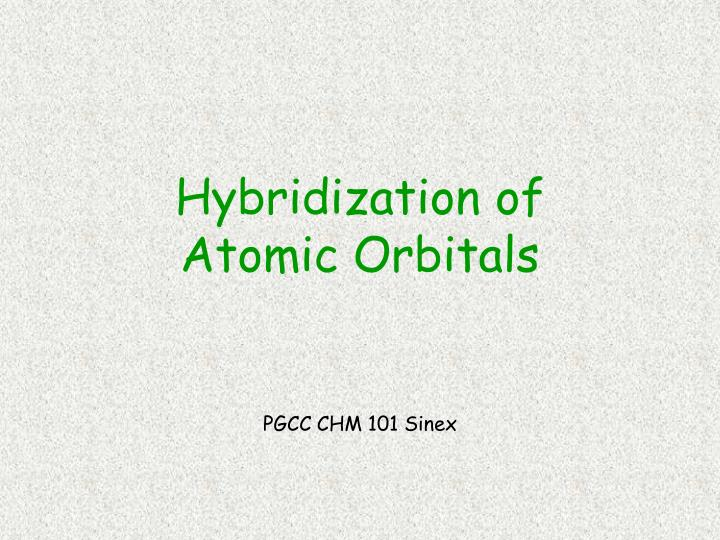 hybridization of atomic orbitals n.