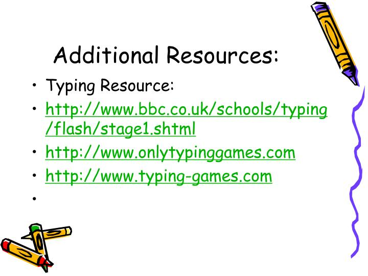 Additional Resources: