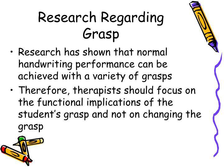 Research Regarding Grasp