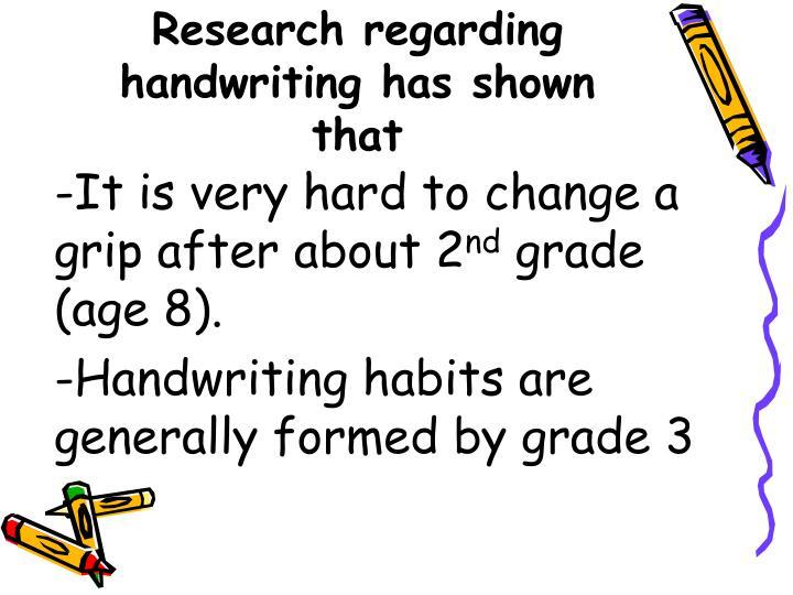 Research regarding handwriting has shown that