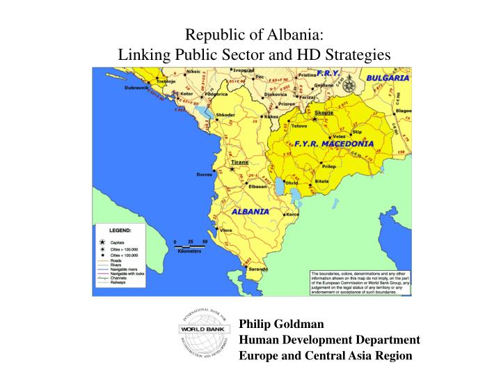 Republic of albania linking public sector and hd strategies