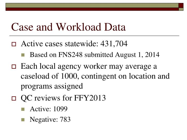 Case and Workload Data