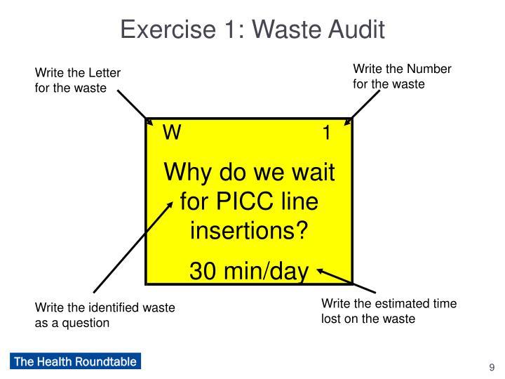 Exercise 1: Waste Audit