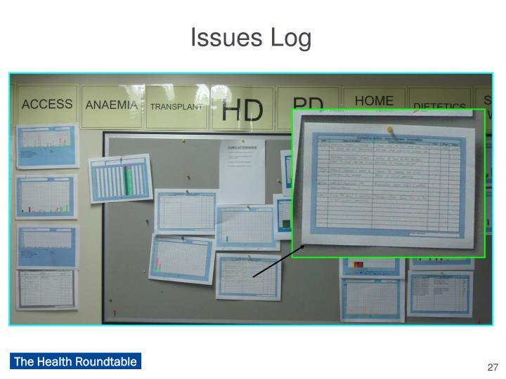 Issues Log