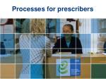 processes for prescribers