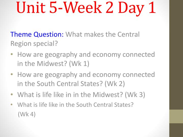 unit 5 week 2 day 1 n.
