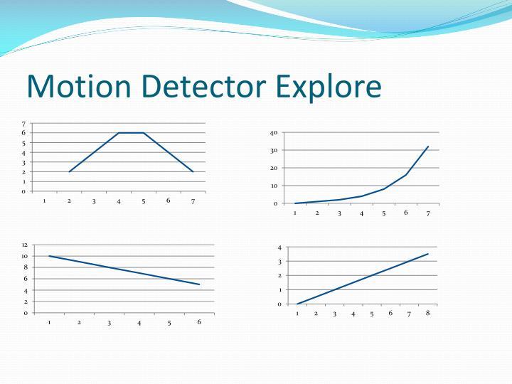 Motion Detector Explore
