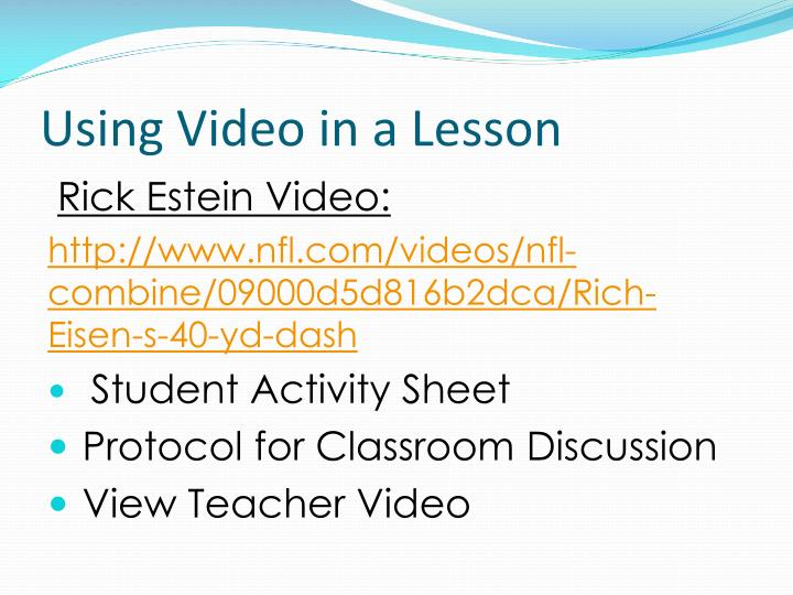Using Video in a Lesson